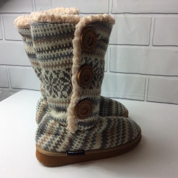 34eeec26c4bb Mug Luks Girls Malena Stripe Boots Size US 13. M 5b770d3015379579eecdd44c